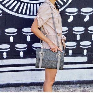 Pink Haley Grey Vintage Inspired Crossbody Bag